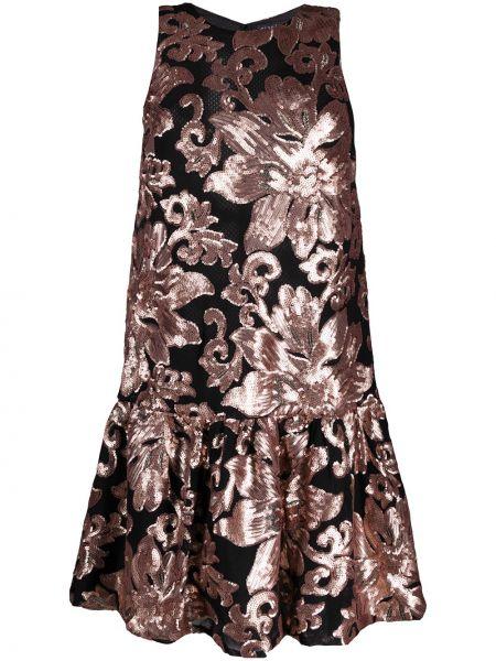 Розовое платье миди с пайетками на молнии без рукавов Gianluca Capannolo