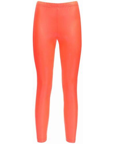 Нейлоновые оранжевые леггинсы эластичные Junya Watanabe