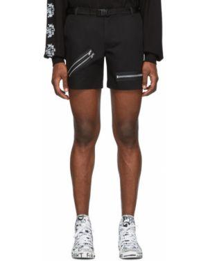 Нейлоновые черные короткие шорты с карманами на молнии 99% Is