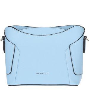 Кожаная сумка - голубая Cromia