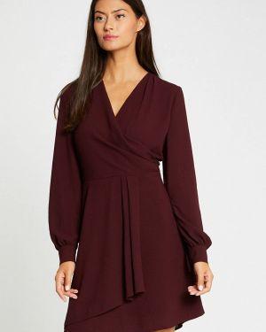 Платье бордовый прямое Morgan