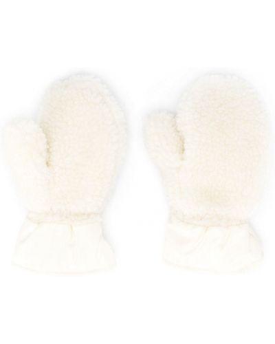 Biały bawełna bawełna plaster wargowy prążkowany Moncler Kids