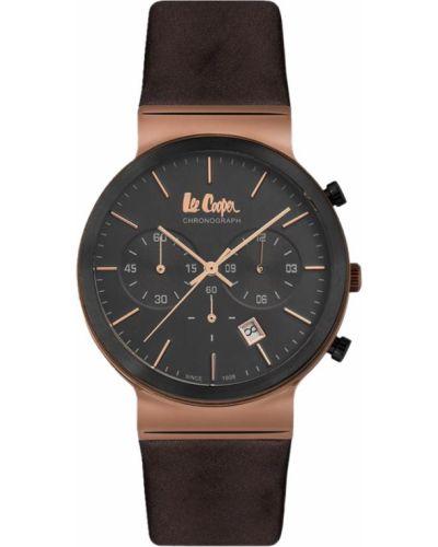 Черные с ремешком кожаные часы на кожаном ремешке Lee Cooper