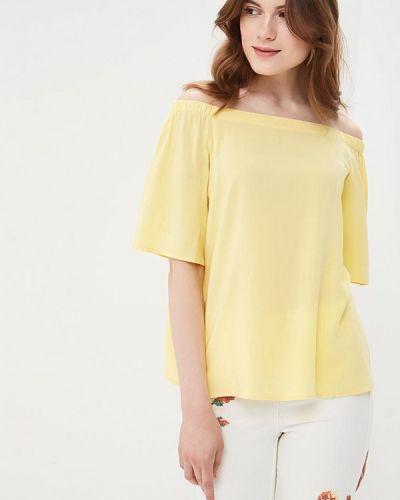 Желтая блузка с открытыми плечами Befree