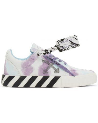 Замшевые белые кроссовки на шнурках Off-white