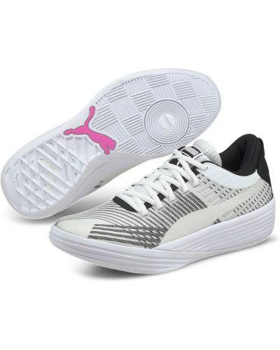 Черные текстильные баскетбольные кроссовки беговые для бега Puma