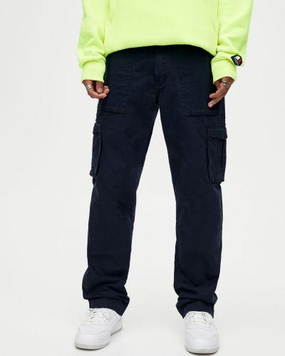 Синие брюки с карманами с медведем Pull & Bear