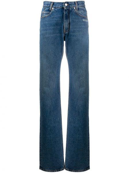 Klasyczny niebieski jeansy chłopaki z kieszeniami z haftem Off-white