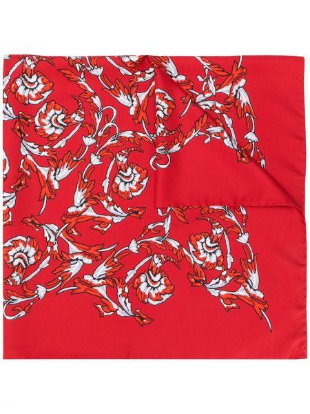 Платок красный с цветочным принтом Escada Sport