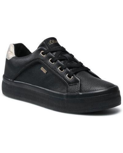 Czarne sneakersy S.oliver