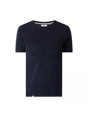 Niebieski t-shirt bawełniany Anerkjendt