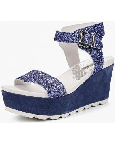 Синие босоножки на каблуке Tosca Blu