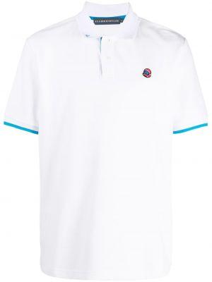 Хлопковая с рукавами белая рубашка Billionaire Boys Club