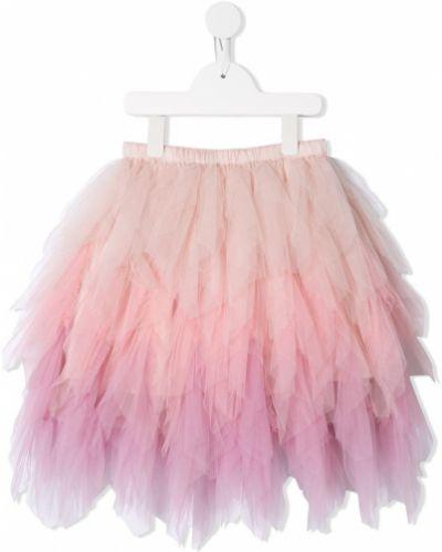 Хлопковая розовая юбка с поясом Tutu Du Monde