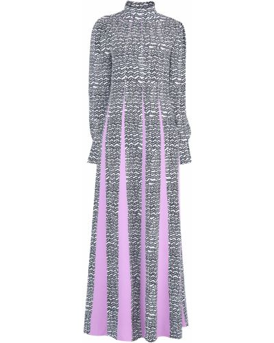 Платье макси на пуговицах с манжетами Valentino