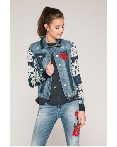 Джинсовая куртка на пуговицах облегченная Desigual