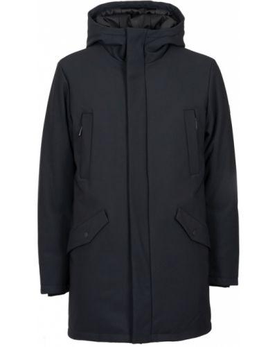 Czarny długi płaszcz z kapturem z długimi rękawami People Of Shibuya