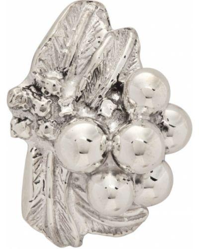 Серебряные серьги золотые Jiye Shin