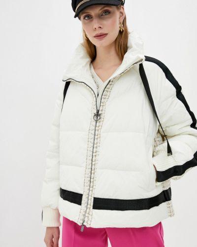 Белая теплая утепленная куртка Pinko