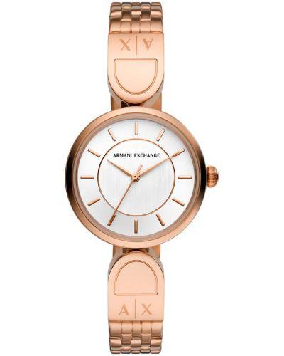 Żółty złoty zegarek Armani Exchange