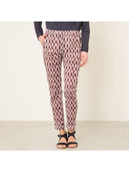Черные брюки на резинке с рисунком с карманами узкого кроя Diega