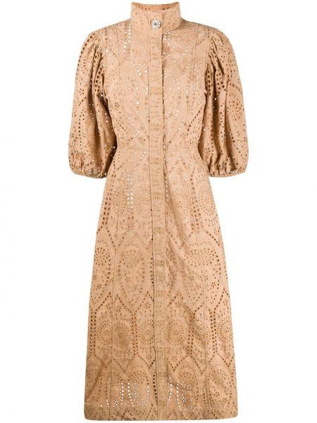 Платье на пуговицах расклешенное Ganni