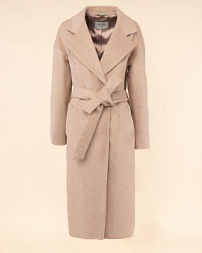 Бежевое шерстяное пальто с воротником Avalon