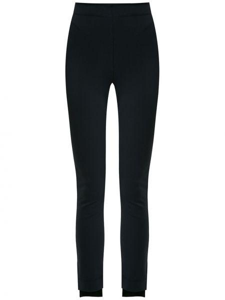 Асимметричные черные брюки с поясом скинни Gloria Coelho