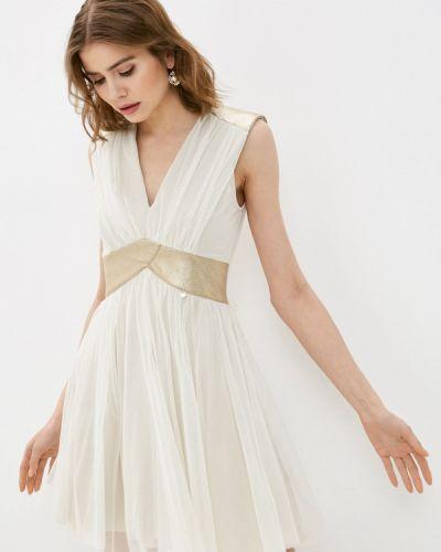 Бежевое вечернее платье Rinascimento