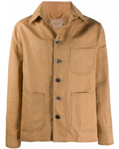 Длинная куртка льняная с манжетами Federico Curradi