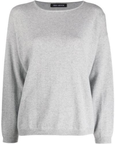 Кашемировый серый джемпер с вырезом Iris Von Arnim