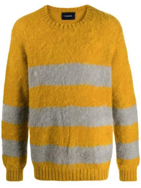 Желтый свитер из мохера узкого кроя Johnundercover