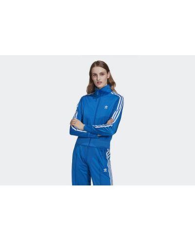 Kurtka w paski - niebieska Adidas