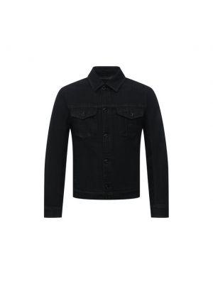 Черная итальянская джинсовая куртка Emporio Armani
