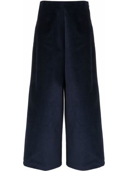 Свободные синие брюки свободного кроя Folk