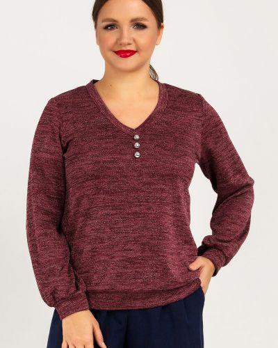 Джемпер с люрексом - бордовый Liza Fashion