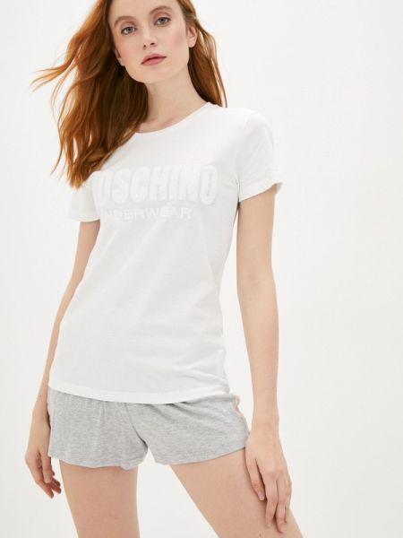 Белая футбольная домашняя футболка Moschino Underwear