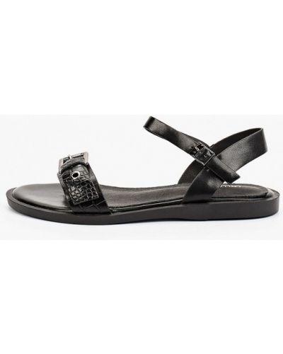 Черные кожаные сандалии Lolli L Polli