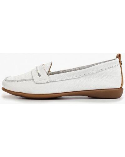 Мокасины кожаные белые Bata