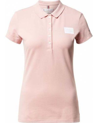 Różowy t-shirt bawełniany Tommy Hilfiger