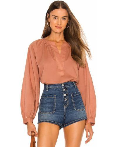 Pomarańczowa bluzka bawełniana Joie