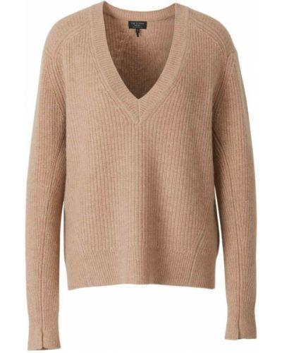 Beżowy sweter z dekoltem w serek Rag & Bone