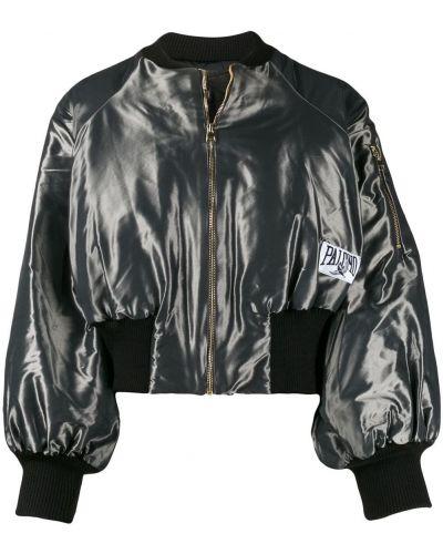 Темно-синяя сатиновая прямая стеганая куртка Palomo Spain