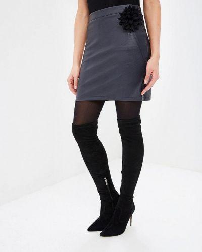 Кожаная юбка синяя итальянский Perfect J