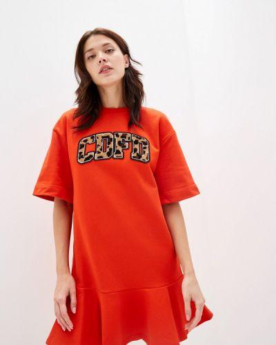 Платье платье-толстовка красный Comme Des Fuckdown