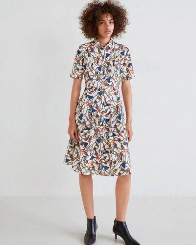 Платье прямое осеннее Mango