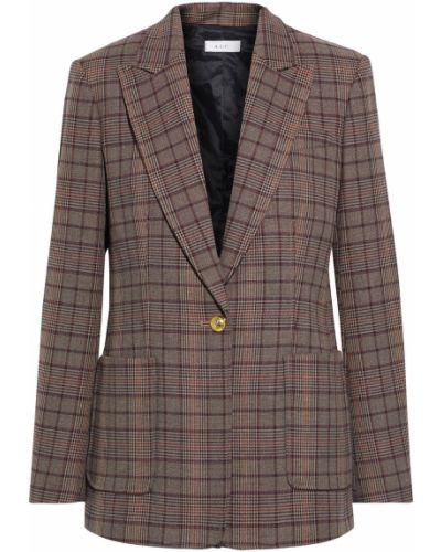Коричневый пиджак с накладными карманами на пуговицах A.l.c.