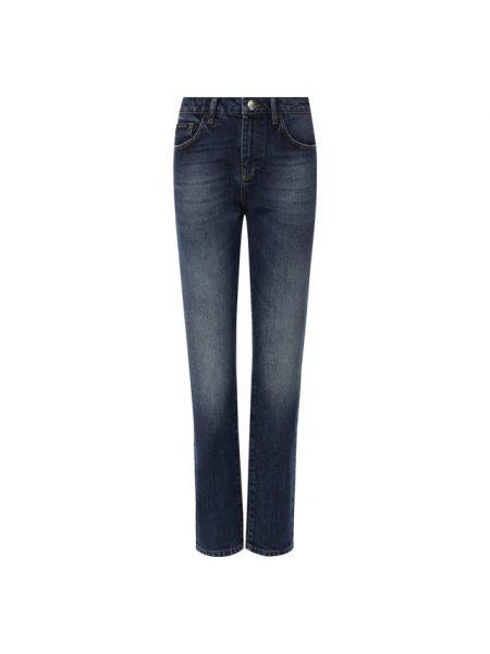 Укороченные джинсы синие с эффектом потертости Philipp Plein