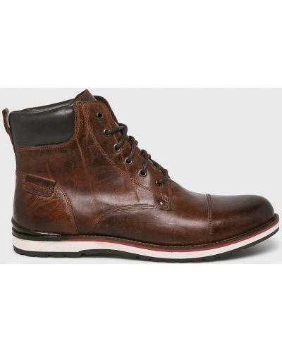 Ботинки на шнуровке кожаные высокие Medicine