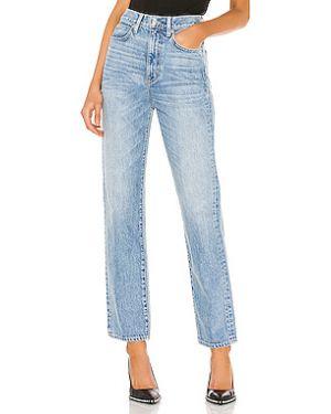 Пляжные джинсы с высокой посадкой с карманами с декоративной отделкой на пуговицах Slvrlake